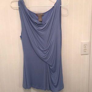 Blue sleeveless soft tee tank.